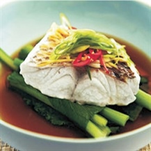 Steamed Snapper with Spring onion, Soy and Ginger