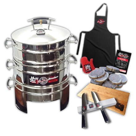 2 Basket Slow Smoker Charcoal Cooker and Free Extras 2 Basket Slow Smoker Charcoal Cooker-Free Extras