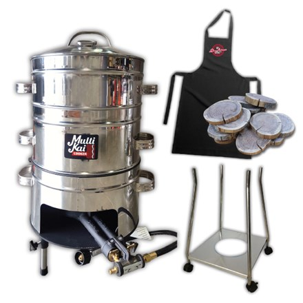 MultiKai 3 Basket Cooker with Trolley MultiKai 3 Basket Cooker with Trolley